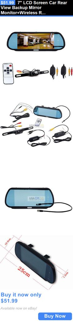 Rear View Monitors Cams and Kits: 7 Lcd Screen Car Rear View Backup Mirror Monitor+Wireless Reverse Ir Camera Kit BUY IT NOW ONLY: $51.99