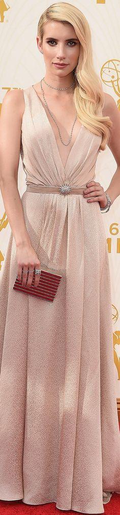 Emma Roberts in Jenny Packham 2015 Emmy Awards