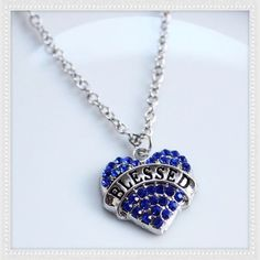 Blessed Blue Crystal Pendant