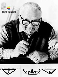 Paul Rand (1914 - 1996) was an American graphic designer, best known for his corporate logo designs, including the logos for IBM, UPS, Enron, Westinghouse, ABC, and Steve Jobs's NeXT. He was one of the originators of the Swiss Style of graphic design.
