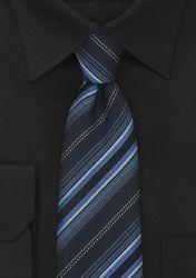 Gestreifte XXL-Krawatte nachtblau schwarz günstig kaufen . . . . . der Blog für den Gentleman - www.thegentlemanclub.de/blog