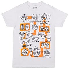 Star Wars A New Hope Pictogram TShirt  White Large >>> Click image for more details.