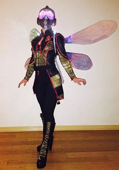 Halloween tech roundup: check out the coolest electronic costumes we came across… Ant Costume, Wasp Costumes, Diy Costumes, Halloween Costumes, Cosplay Wings, Cosplay Helmet, Insect Wings, Dragonfly Wings, Armadura Cosplay