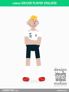 CHAR061_SoccerPlayerEngland. Part of D&M Character Kit.