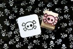 Skull stamp  Mini Quirky Skull and Cross by skullandcrossbuns, £4.75