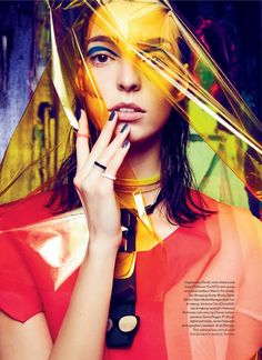 Art Studio: Dajana Gets Arty for Elle Canada by Max Abadian