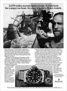 1973 Rolex Submariner Ad