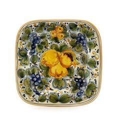 TUSCANIA - Artistica.com Kitchen Dining, Kitchen Decor, Green Plates, Italian Pottery, Plates On Wall, Safe Food, Artisan, Ceramics, Tableware