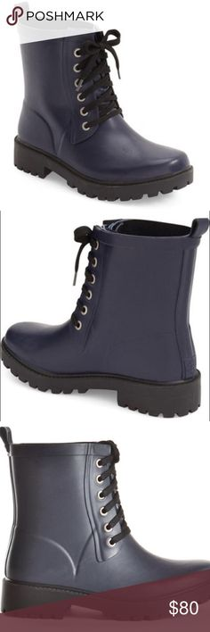 Däv • Weatherproof Manchester combat rain boots Däv weatherproof waterproof military combat style rain booties. Durable with memory foam insert. Lace up. Size 8. Very comfortable. NWT in box. Perfect condition. No flaws. Retail $88. Tags: Jeffery Campbell, Urban Outfitters, Hunter, Sorel däv Shoes Winter & Rain Boots