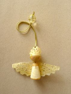 Angel Gold girl  Christmas ornament  Holiday Ornament  by zime