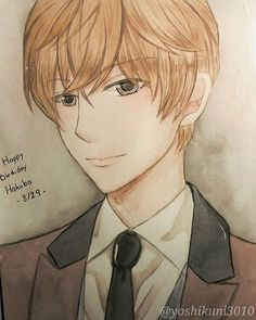 Credit to instagram@yoshikuni3010 Watercolor magic kaito hakuba saguru detevtive conan drawing