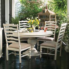 Paula Deen Home 5 Piece Round Dining Set in Linen Finish