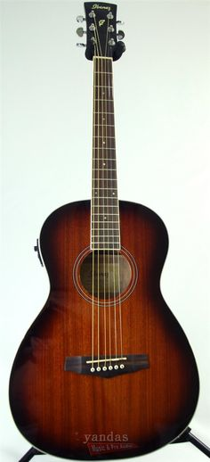 The Ibanez PN12e is a small bodied parlor guitar that is a blast to play. The small comfortable body and low price make this a great choice for the young beginner or as an extra guitar you can easily
