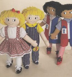 Learn To Dress 24  (61cm) Teaching Aid Soft Dolls & Clothes UNCUT Sewing Pattern