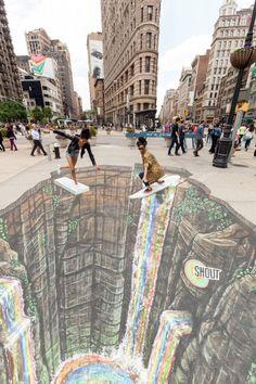 A arte em 3D é uma das mais sedutoras artes de rua, trazendo criatividade para a paisagem urbana. Selecionamos algumas das melhores artes em 3D nas ruas.