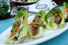 Vietnamese Pork Tacos with Ginger Lime Dressing / momskitchenhandbook.com