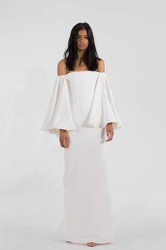 The Biggest Wedding Trends on Pinterest: Show some skin and get a little boho with the help of an off-the-shoulder wedding gown. | coveteur.com
