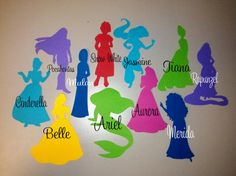 11 Extra Large Die Cut Disney Princesses, choose your characters (or your own) in Any Color Cardstock, Perfect for Decor or Birthdays on Etsy, $5.00