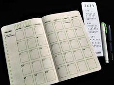 Make your monthly bullet journal calendar super fast! Make your monthly bullet journal calendar super fast! Bullet Journal Calendar, Bullet Journal Stencils, Bullet Journal Monthly Spread, Bullet Journal 2019, Bullet Journal Notebook, Bullet Journal Layout, Bullet Journal Inspiration, Journal Ideas, Bullet Journal Lined Paper