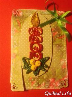 Quilled Life: Światło świecy #candle #Christmascard #Christmas #quilling #craft #handcraft #handmade #DIY