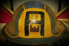 American Expeditionary Force, 28th Engineers helmet,  World War 1.