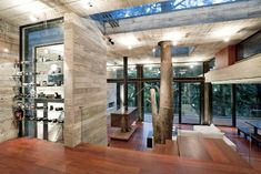 living area  This house gives a whole new meaning of tree house...check out more at the website...WTB