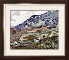 Van Gogh: Landscape, 1890 Stretched Canvas Print by Vincent van Gogh at Art.com