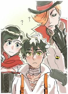 Ruby, Roman, and Oscar (Ozpin?)