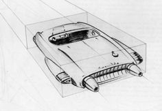 Henry Gurr's book played an important role in my interest in car design. Gm Car, Car Illustration, Photo Wall Collage, Retro Futurism, Concept Cars, Dream Cars, Classic Cars, Automobile, Dean