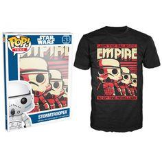 Pre-Sale Item Ships End of January - Funko POP! Tee - Star Wars Stormtrooper Poster