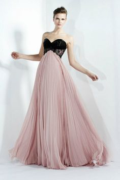 Pretty Pink & Black Gown