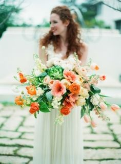 Amazing overflowing wedding bouquet  | Photo by Lauren Kinsey on Grey Likes Weddings— Loverly Weddings