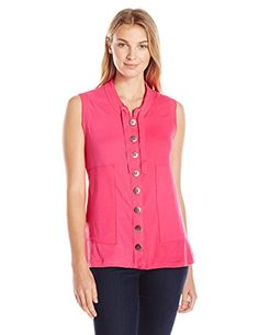 Neon Buddha Womens Memphis Vest Pink XLarge -- Click on the image for additional details.