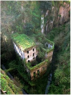 {deep valley of the mills, sorrento, italy} abandoned in 1866, it's kind of spooky, but incredibly intriguing at the same time.~ Une-deux senses
