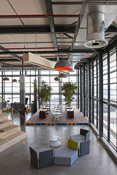 Cool seating area #seatingarea #design #moderndesign http://www.ironageoffice.com/