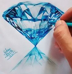 Blue gem art