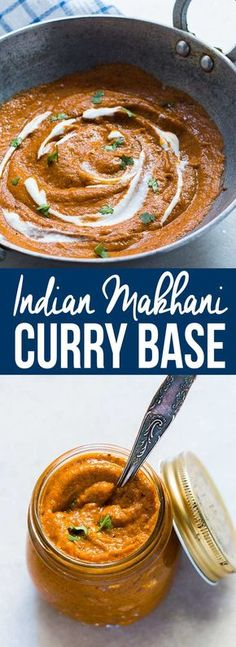 This easy Indian Makhani Gravy or Curry paste/sauce is your answer to anything Indian! Perfect for paneer makhani, chicken makhani, dal makhani and chicken/paneer butter masala. Makes 4 batches of curry and is freezer friendly. Veg Recipes, Indian Food Recipes, Asian Recipes, Vegetarian Recipes, Chicken Recipes, Cooking Recipes, Recipies, Chicken Ideas, Dishes Recipes