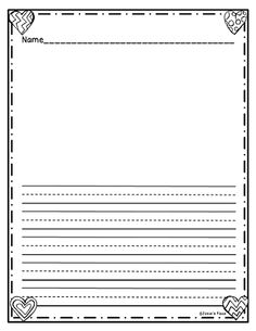 Freebie Writing Paper Lined With Drawing Frame Click On The