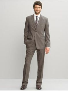 Taupe man's suit, Bill would look good in this