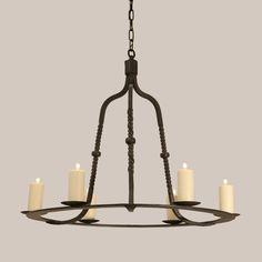 "banquette lighting 2025 Rope Chandelier - Paul Ferrante 33"" D x 30"" H - 6 candelabra/60 watt per bulb"