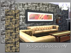 MB-StylishStuccoN, strucctual wall with rough and stylish deco effects, give your sims homes an industrial and modern ambiente, comes in 3 wall-hights and 2 colors, with custom thumbnail, created...