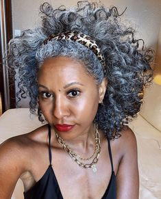Grey Hair Don't Care, Grey Curly Hair, Curly Hair Styles, Natural Hair Styles, Gray Hair, Short Hair Syles, Grey Hair Inspiration, Dope Hairstyles, Ageless Beauty