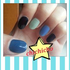Blue Gradient Nails | chichicho~ nail art addicts