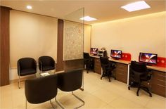 Bhas Direct office interiors, Hebbal, Bangalore -SAVIO and RUPA Interior Concepts Bangalore Residential Interior Design, Interior Design Companies, Modern Interior, Interior Concept, Commercial Interiors, Office Interiors, Designers, Table, Furniture