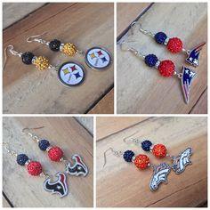 More Football earrings available