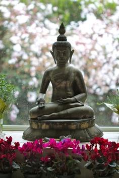 My Buddha that sits over my big bathtub...