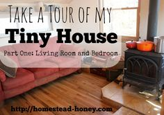 Take a tour of our 350 Square foot home. This tiny house tour features the living room and bedroom. Learn how we fit a family of four into a tiny space!