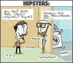 CARTOONS EN ILLUSTRATIES: Cartoon: Hipsters
