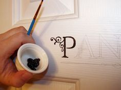 Letter Transfer Tutorial... use to ID the Laundry, Pantry & Restroom doors or paint a favorite quote on a wall