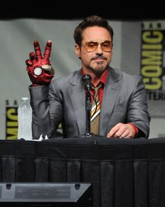 Robert Downey Jr. at San Diego Comic Con 2012.